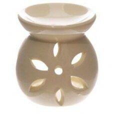 Aromatinė lempa keraminė maža, 7,5cm gelsva