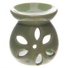 Aromatinė lempa keraminė maža, 7,5cm žalia