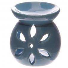 Aromatinė lempa keraminė maža, 7,5cm mėlyna