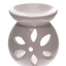 Aromatinė lempa keraminė maža, 7,5cm balta