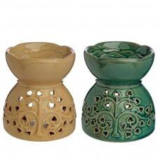 Aromatinė lempa keraminė medžio rašto