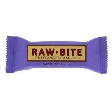 Batonėlis su uogomis ir vanile, 50 gr. RawBite