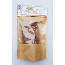 Brandintų linų sėmenų duonelės su morkomis, 100 gr.