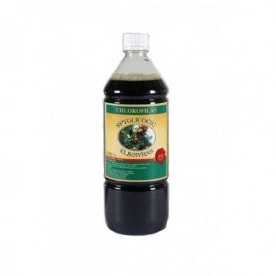 Chlorofilas - Spygliuočių eliksyras, 1000ml (plast. butelyje)