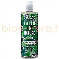 Faith in Nature Citrinų ir arbatmedžių aliejaus šampūnas visų tipų plaukams 400 ml