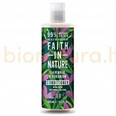 Faith in Nature Levandų ir pelargonijų kondicionierius normaliems ir sausiems plaukams 400 ml