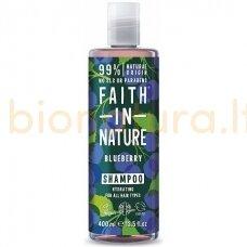 Faith in Nature Mėlynių šampūnas, drėkinamasis, visiems plaukų tipams 400 ml