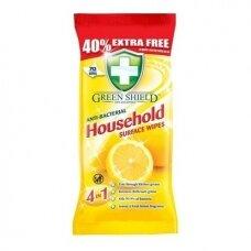 Green Shield antibakterinės drėgnos servetėlės 70vnt