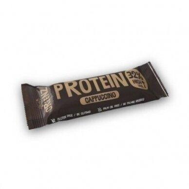 GREENZ PROTEIN CAPPUCCINO batonėlis su šokoladu. Su saldikliu, 1x32 g