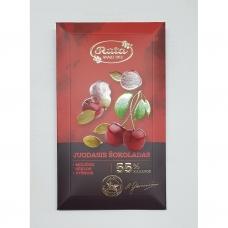 Juodasis šokoladas 55%, moliūgų sėklos, vyšnios. 100 g. Rūta