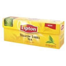 Juodoji arbata LIPTON YELLOW LABEL TEA, 25 vnt.
