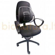 Kėdės atrama nugarai su masažuokliu
