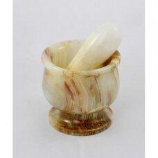 Prieskonių grūstuvė onikso, 10x10 cm