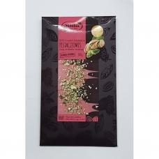 RUBY  ir juodasis šokoladas su pistacijomis. 100 g. Rūta