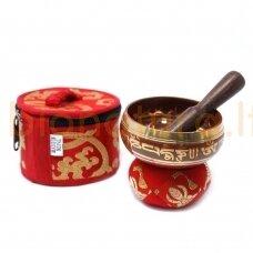 Tibeto dainuojantis dubuo rinkinys mini (raudonas)