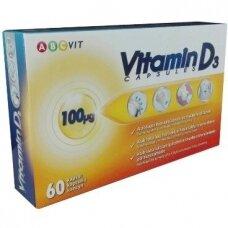 Vitaminas D-3 100µg kapsulės (ABC Vit), N60